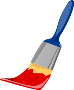 243x297 Paint Brush Blue And Red Clip Art