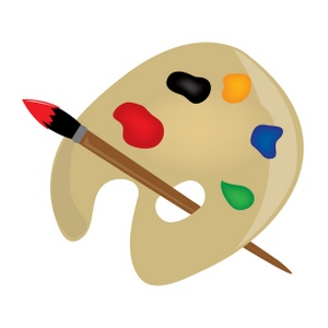 300x300 Paint Brushes Clip Art