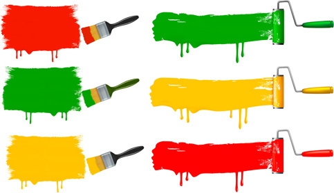 483x280 Paint Brush Vector Art Free Free Vector Download (214,621 Free