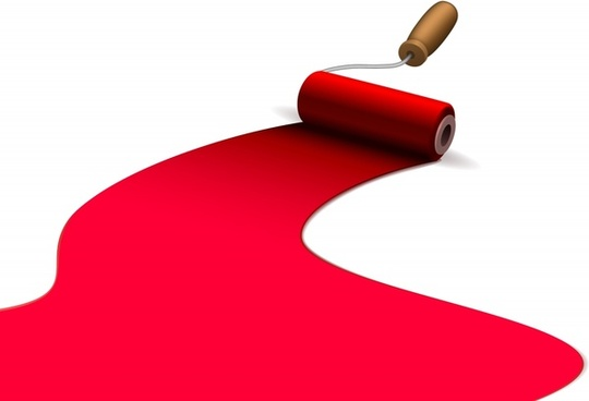 540x368 Brush Clipart Red Paint