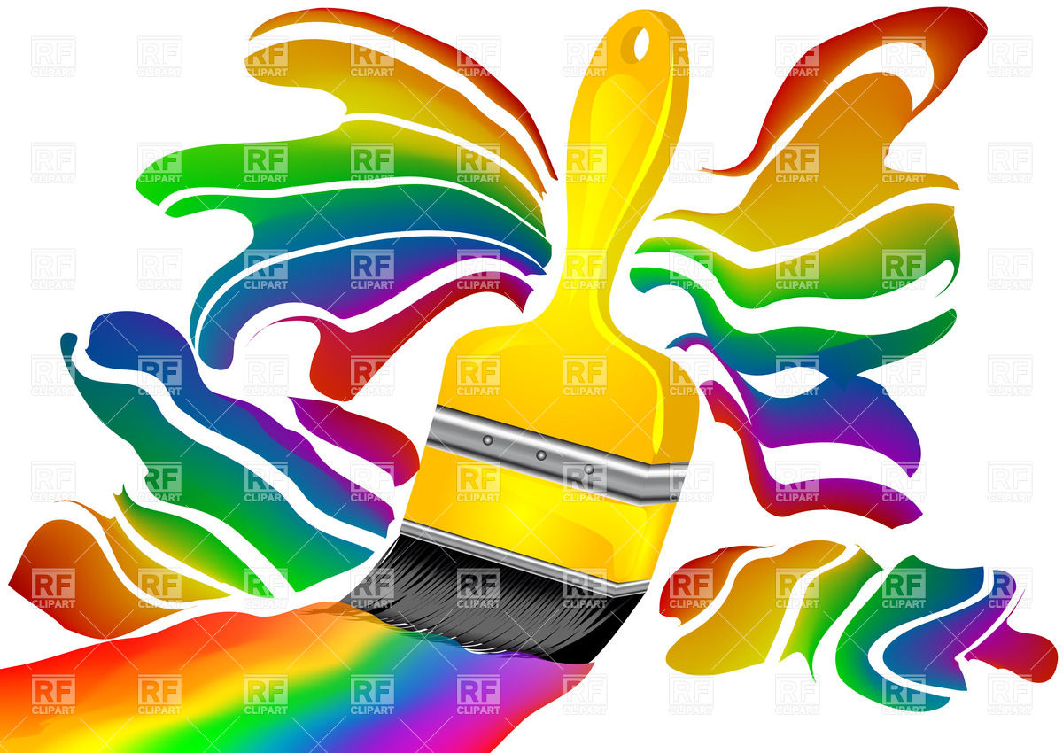 1200x850 Color Paintbrush Royalty Free Vector Clip Art Image