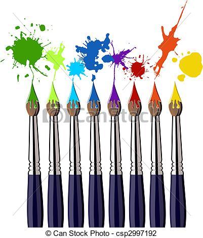401x470 Colors Clipart Paintbrush