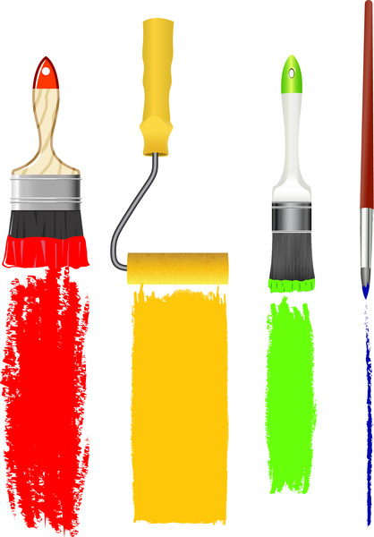 418x600 House Paint Brush Logo Free Vector Download (74,197 Free Vector