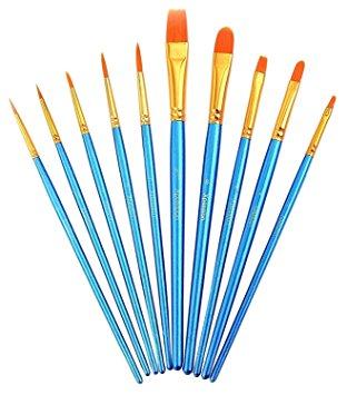 312x355 Paint Brush Set Acrylic Xpassion 10pcs Professional