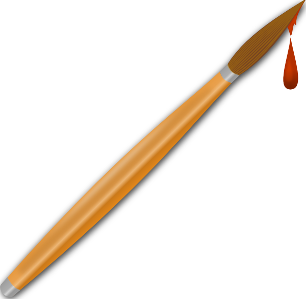 600x587 Paint Brush Drops Clip Art Free Vector 4vector