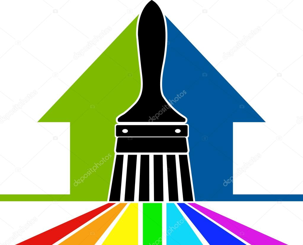 1023x830 Paint Brush Logo Stock Vector Magagraphics