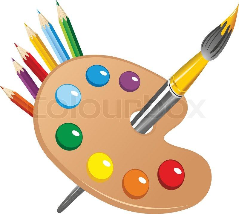 800x717 Pencil Clipart Paintbrush