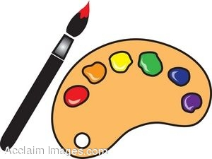 300x225 Paint Brushes And Palette Clip Art