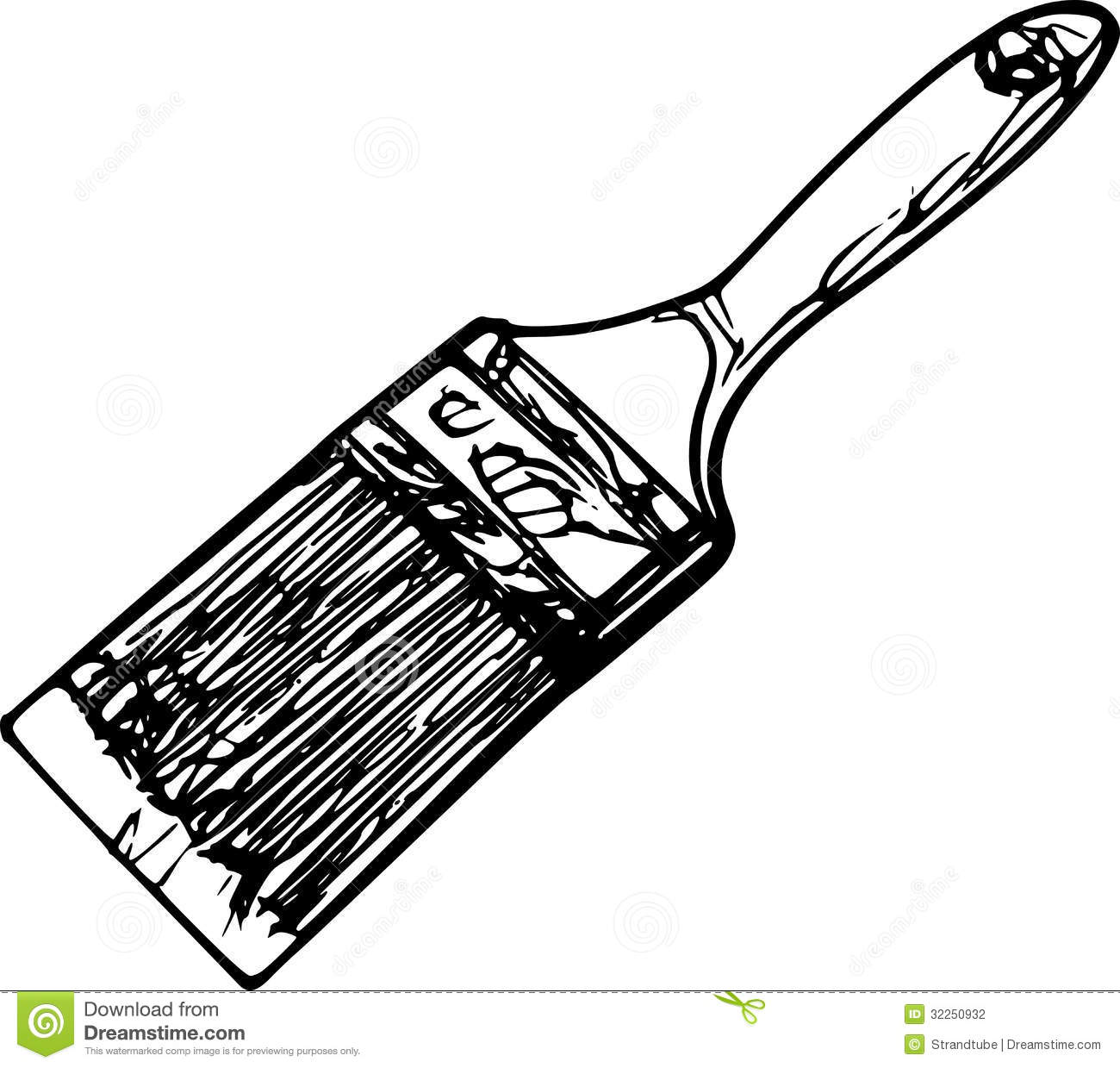 1300x1239 Paintbrush Black And White Clipart