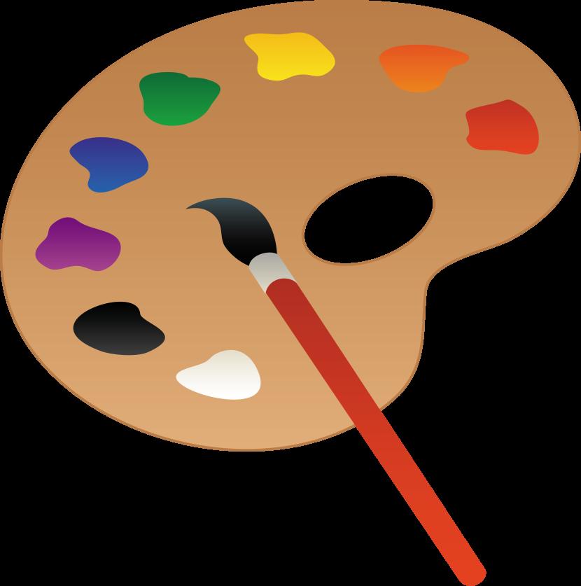 830x837 Paintbrush Clipart 3