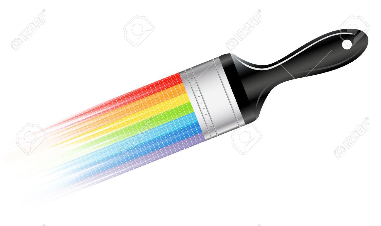 1300x771 Rainbow Clipart Paintbrush