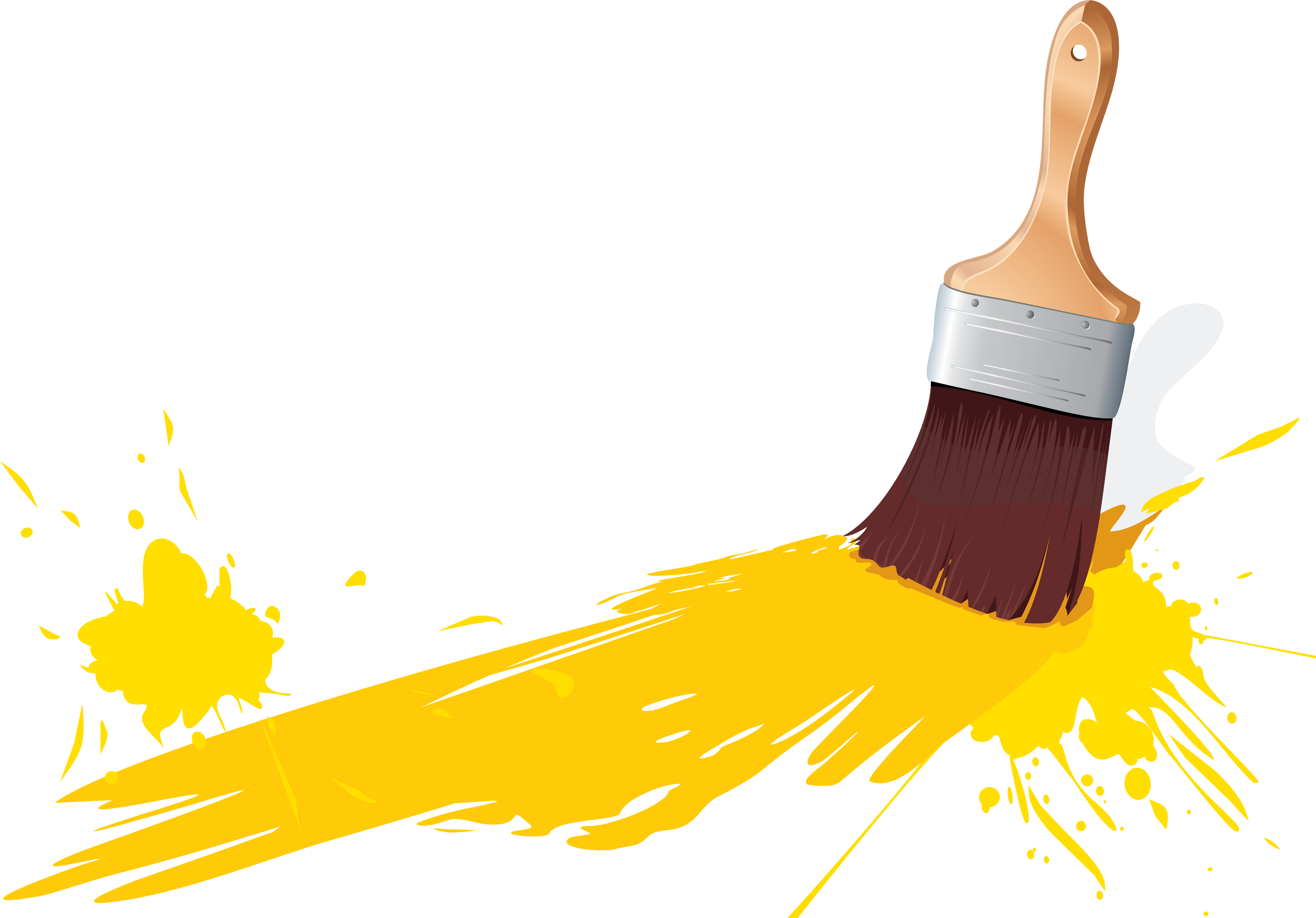 3498x2441 Yellow Clipart Paintbrush