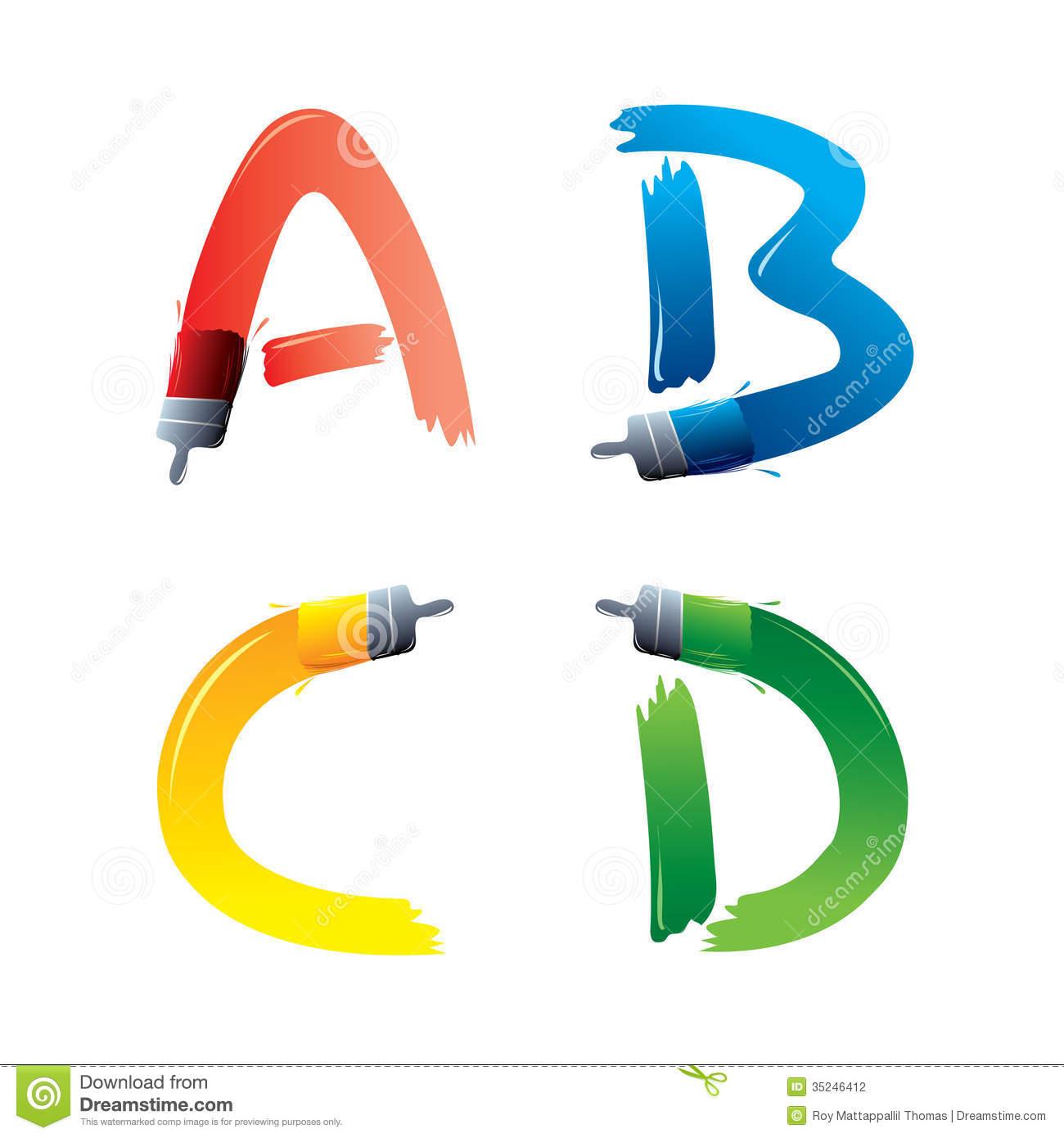 1300x1390 Paint Stroke Letters Clipart