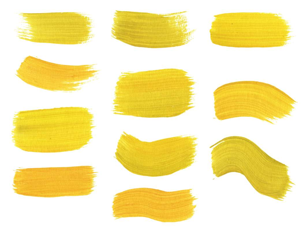 1050x800 11 Yellow Paint Brush Strokes (Png Transparent)