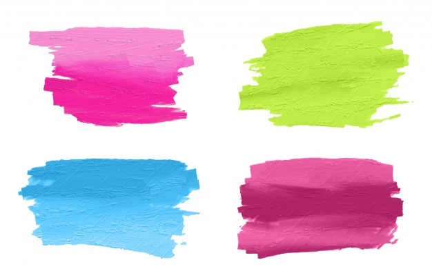 626x406 Hand Painted Brush Strokes Collection Vector Free Download