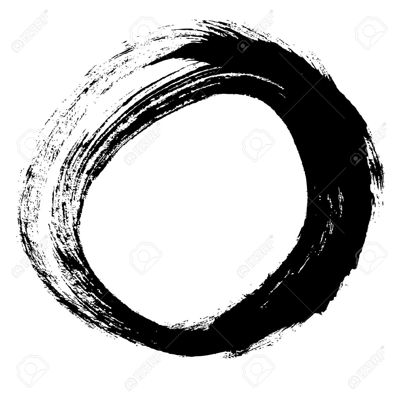 1300x1300 21525367 Black Brush Stroke In The Form Of A Circle Drawing