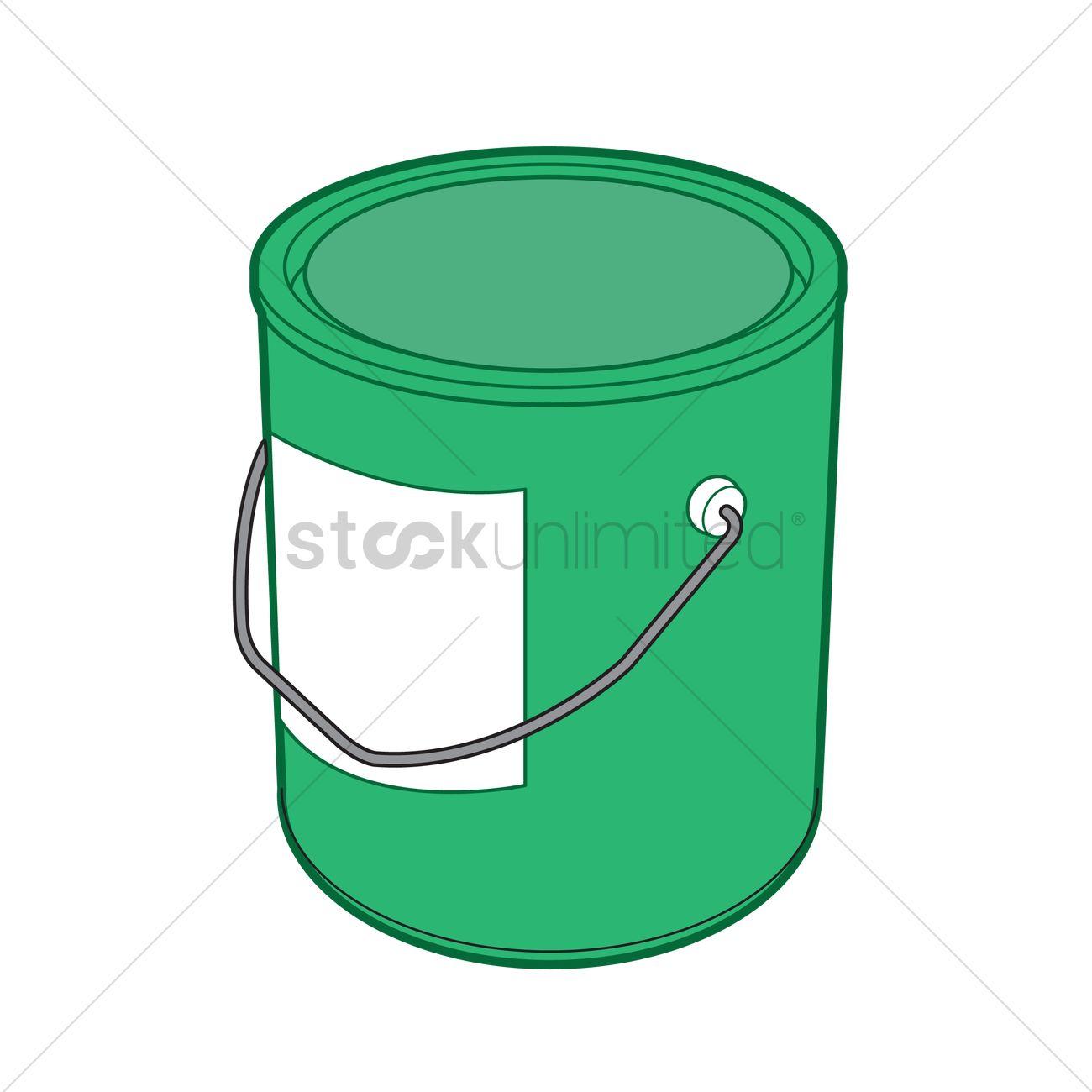 1300x1300 A Paint Bucket Vector Image