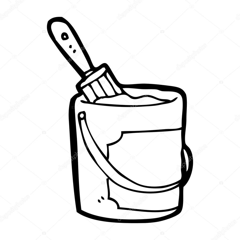 1024x1024 Paint Bucket Cartoon Stock Vector Lineartestpilot