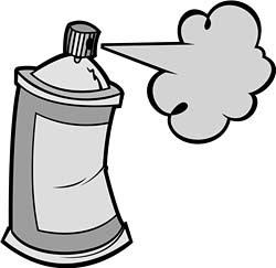 250x243 Fe6f99cdbf76b5aeff7bbde4855d1fa2 Spray Paint Can Clip Art Spray