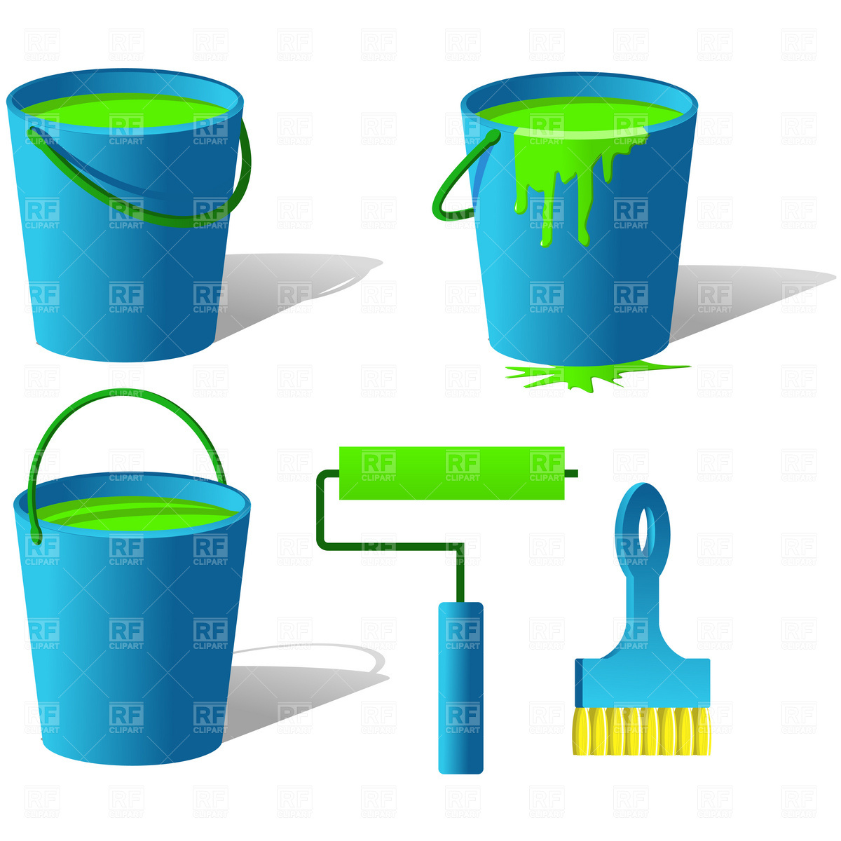 1200x1200 Bucket With Paint Royalty Free Vector Clip Art Image