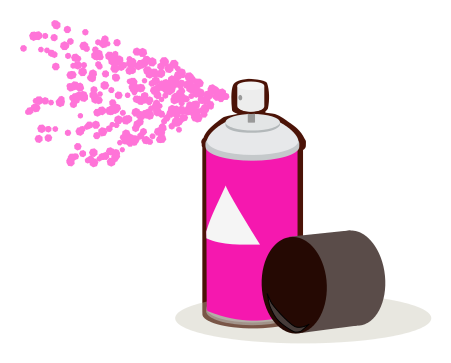 451x363 Paint Can Spray Pink Clip Art Download