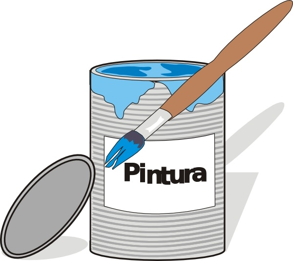 600x534 Aidiagre Paint Tin Can And Brush Clip Art Free Vector In Open