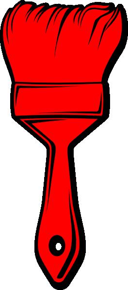 264x598 Red Paint Brush Clip Art