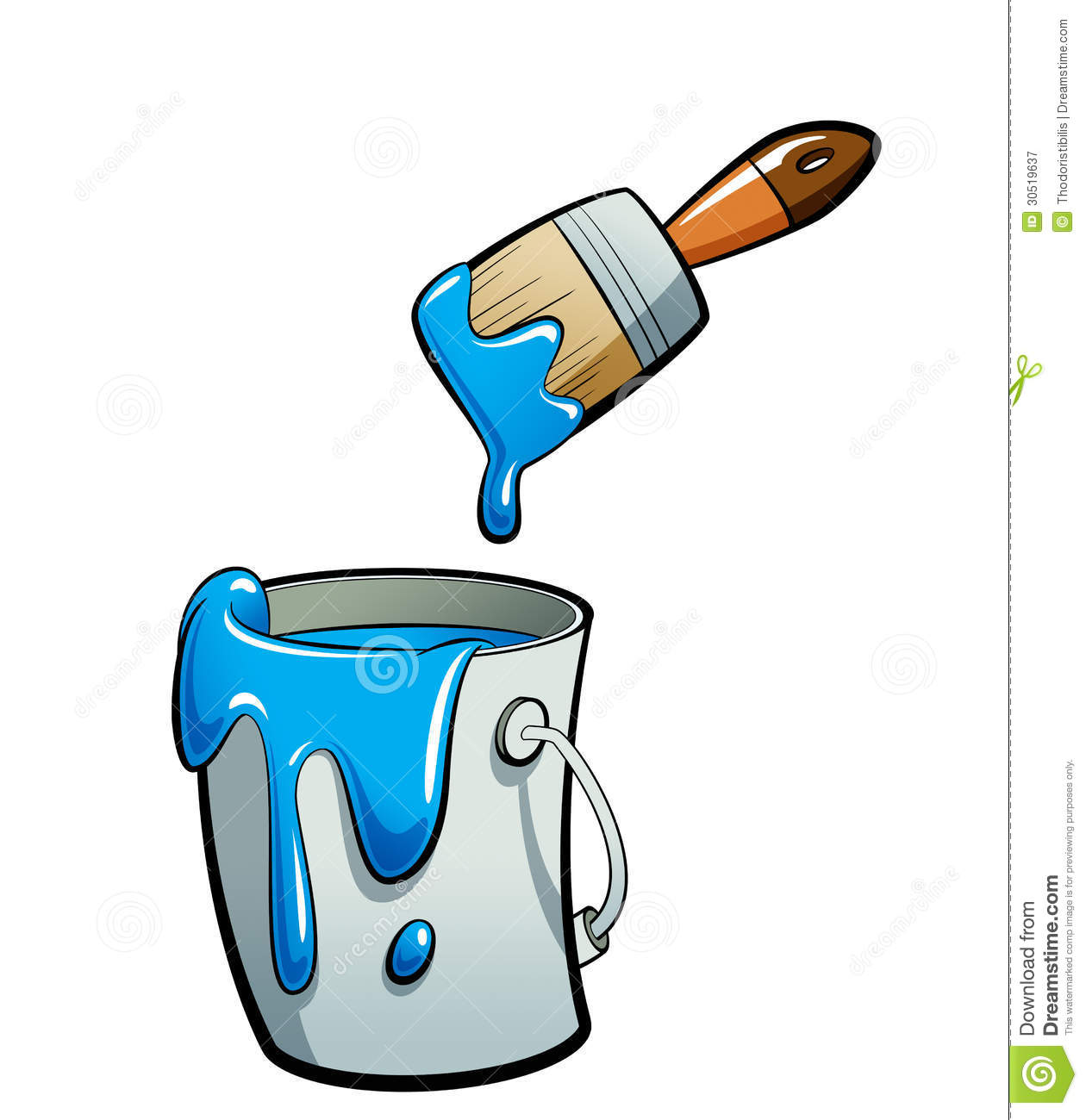 1260x1300 Blue Paint Brush Clipart
