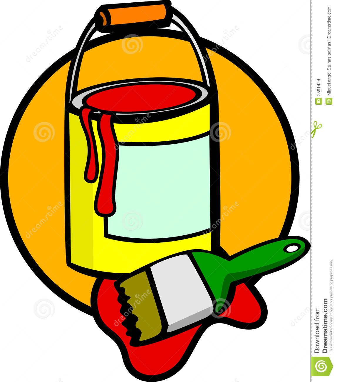 1147x1300 Paint Can And Brush Clipart