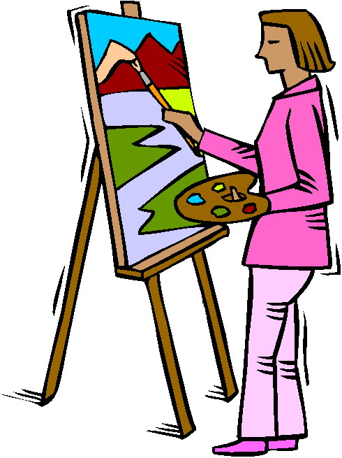 490x655 Artwork Clipart Person Painting