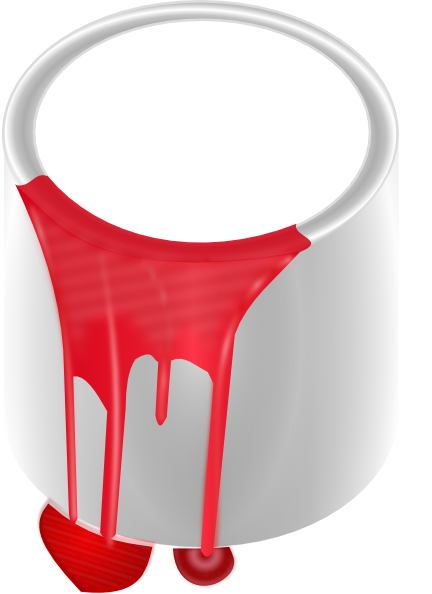 432x594 Paint Can Red Clip Art