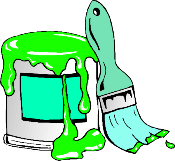 600x553 Cartoon Paint Can
