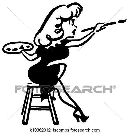 450x462 Clip Art Of A Black And White Version Of A Drawing Of A Woman
