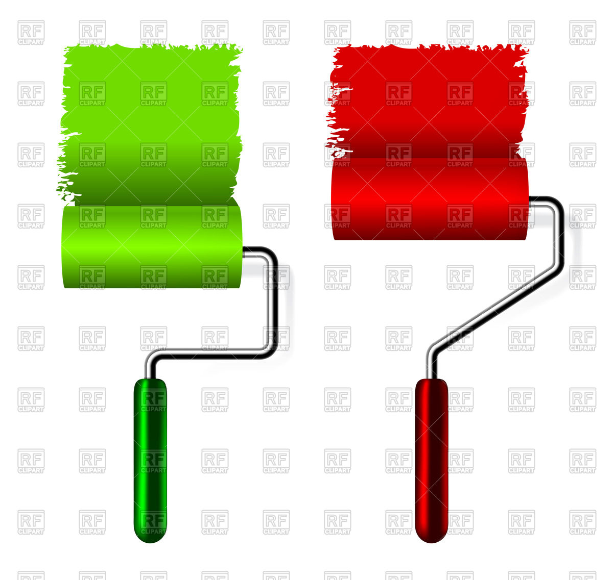 1200x1137 Paint Roller Brush With Paint Royalty Free Vector Clip Art Image