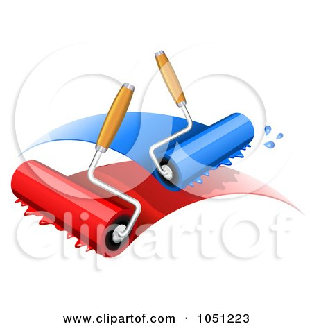 450x470 Royalty Free Vector Clip Art Illustration Of Paint Rollers