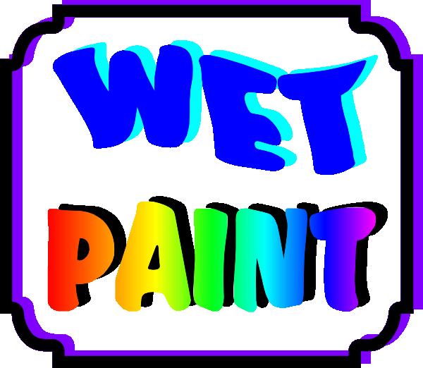 600x522 Wet Paint Sign Clip Art