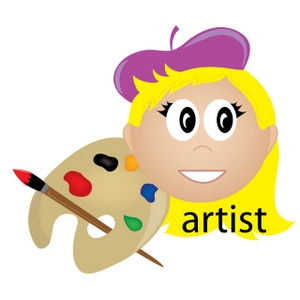 300x300 Artist Clipart Image