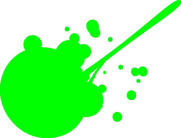 600x457 Green Paint Splatter Clip Art