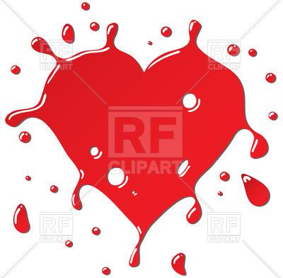 400x392 Heart Shaped Paint Splash Royalty Free Vector Clip Art Image