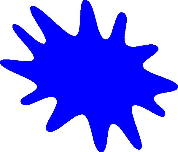 600x514 Blue Paint Splatter Clipart