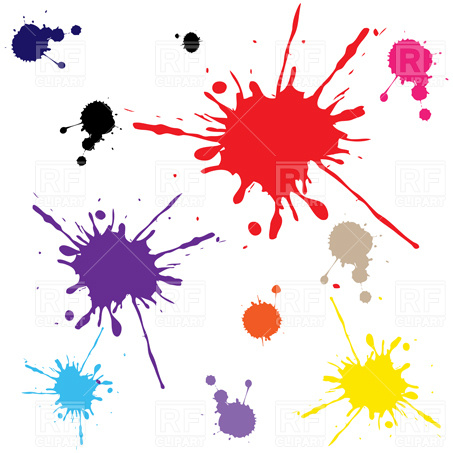 453x453 Colorful Explosion Of Paint Splatter Royalty Free Vector Clip Art