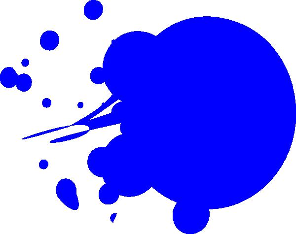600x475 Blue Dot Splat Clip Art