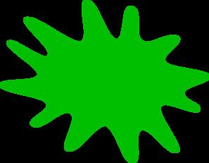 297x231 Green Paint Splat Clip Art