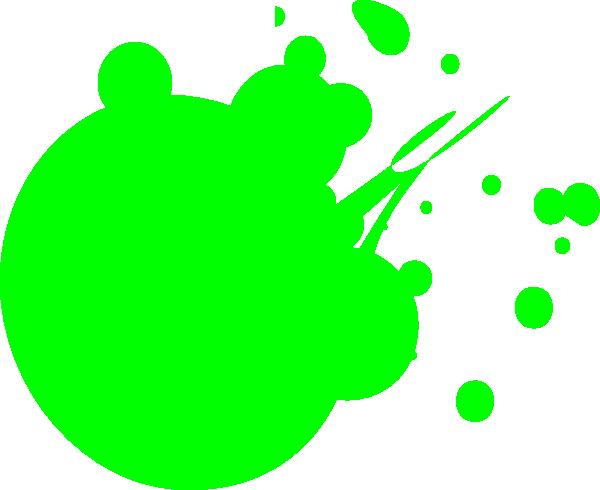 600x490 Neon Green Dot Splat Clip Art