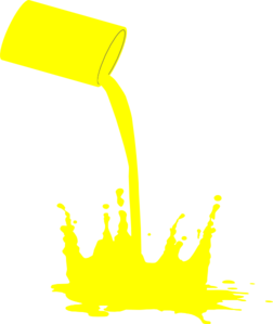 252x299 Paint Splat Yellow Clip Art