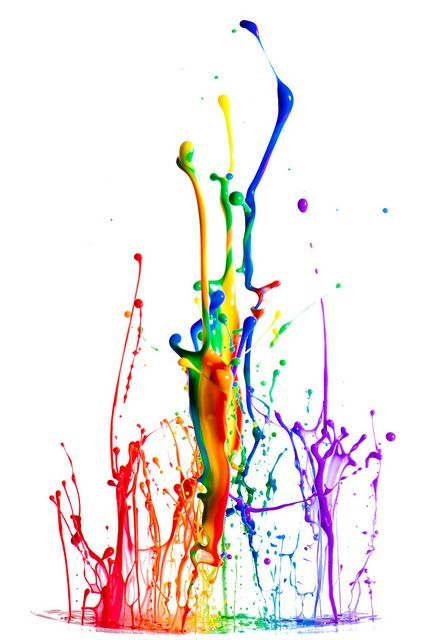 427x640 Rainbow Paint Splatter Clip Art. Rainbow Splash Paint Quote