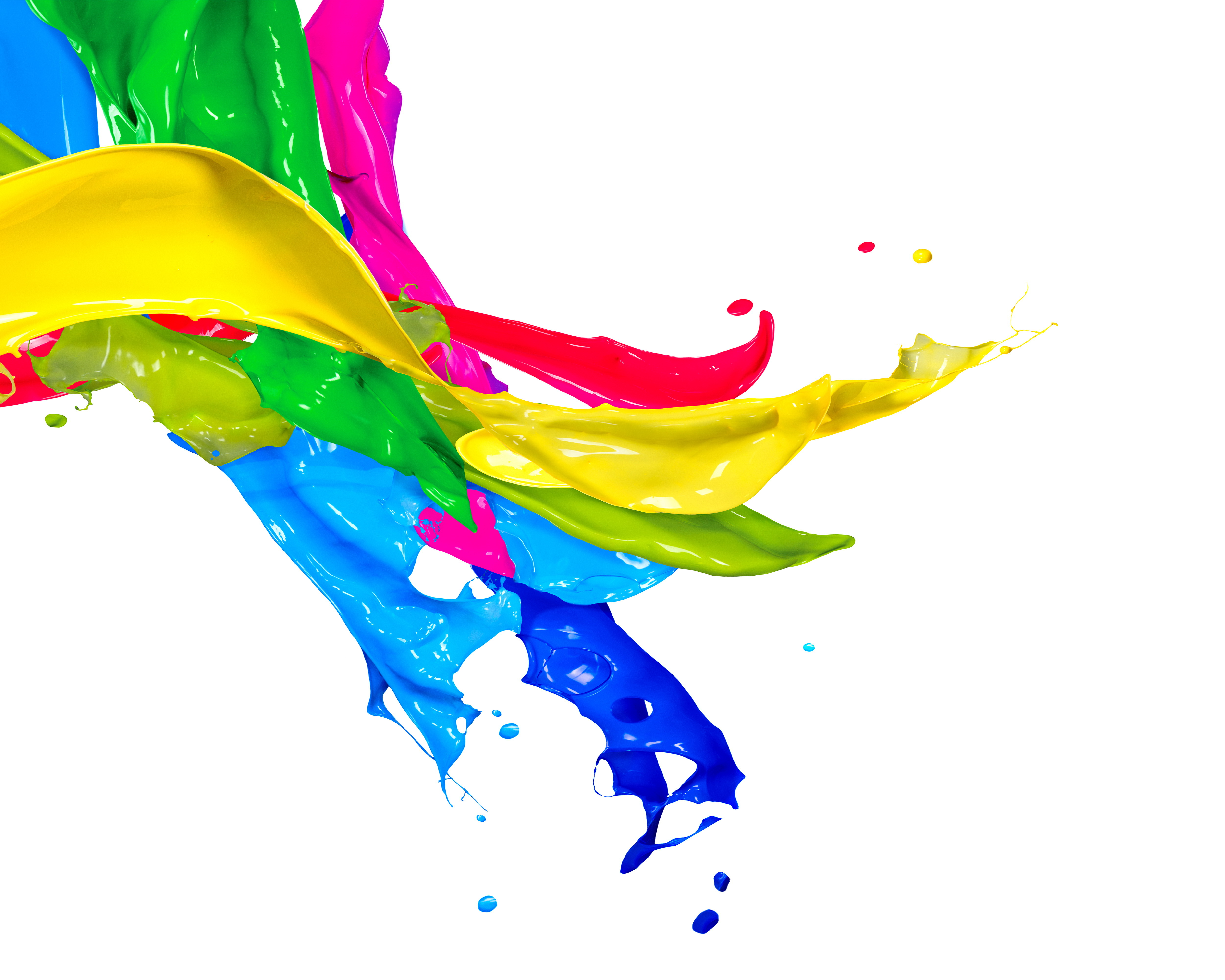 5000x4000 Splatter Clipart Colored Water