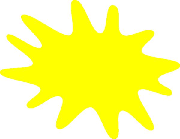 600x466 Yellow Paint Splat