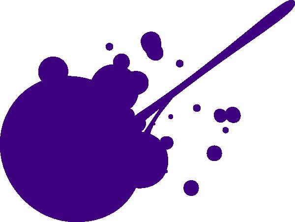 600x451 Purple Splat Clip Art