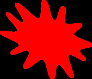 298x255 Red Paint Splatter Clip Art